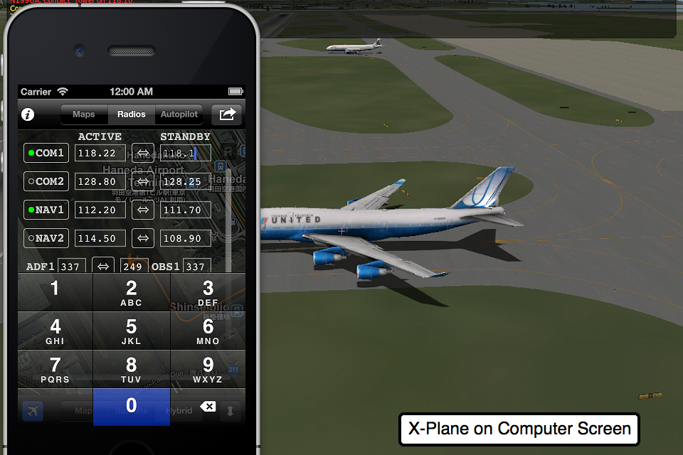 Screenshot X-Mapper (for X-Plane)